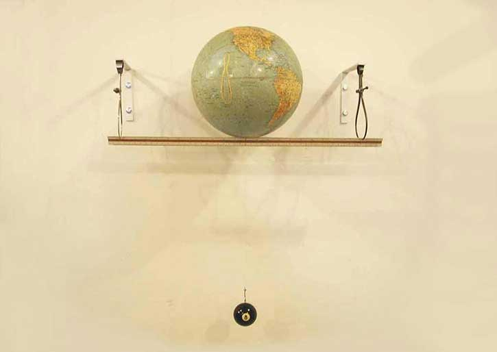 Globe 4, mixed media, 20 x 24 x 10 in.,  2005