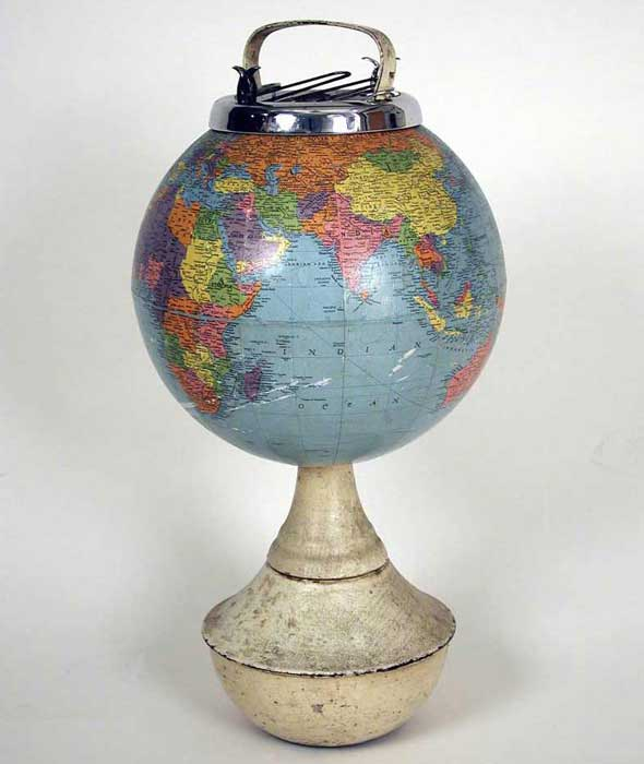 Globe 6, mixed media, 30 x 12 x 12 in., 2008