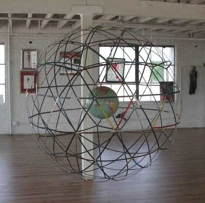Globe 1, mixed media, 2005, Lobot Gallery, Oakland, CA, 2005