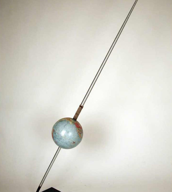 Globe 9, mixed media, 80 x 36 x 12 in., 2009