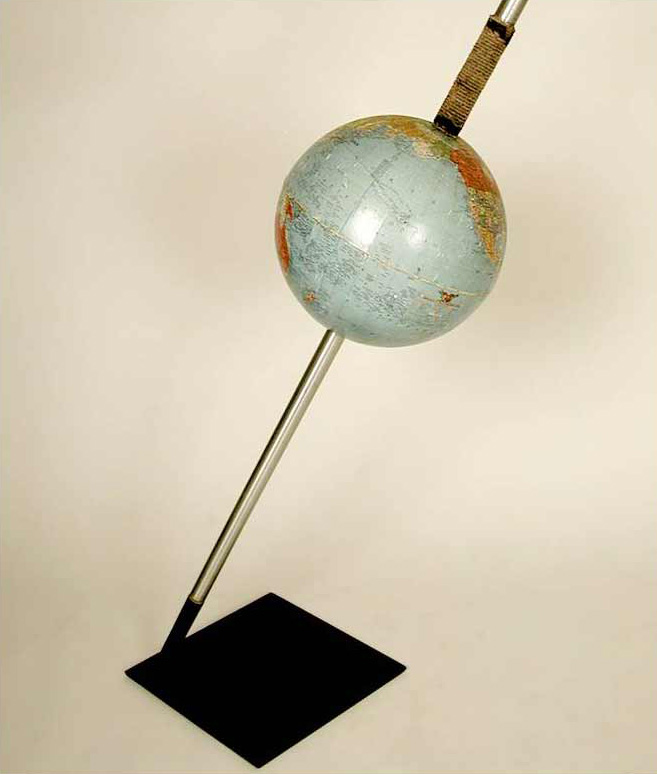 Globe 9, detail, mixed media, 80 x 36 x 12 in., 2009