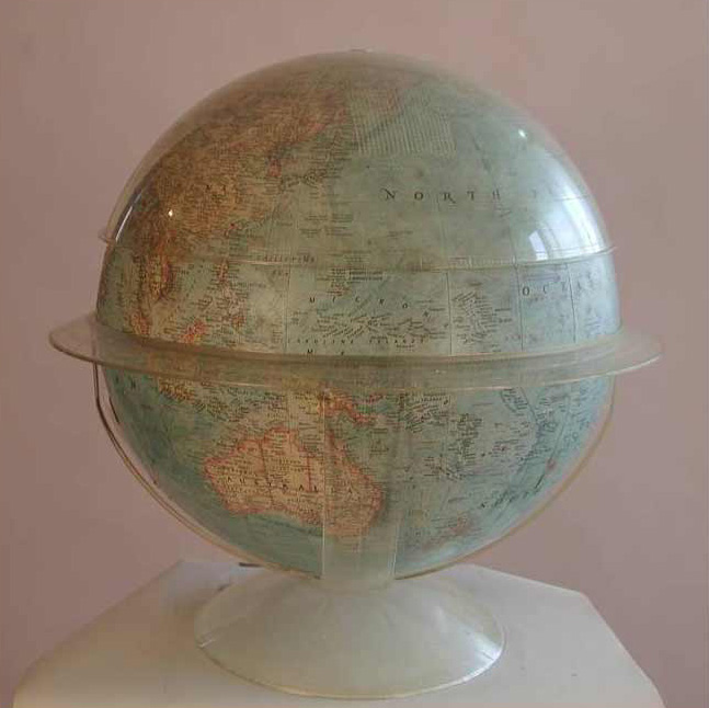 Globe 10, back view, mixed media, 18 x 18 x 18 in., 2009