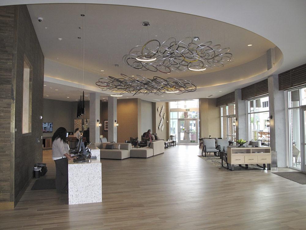 Hyatt Place Hotel, Lobby, Emeryville, CA, 2016.