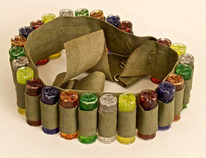 Ammo Belt, casting polyester resin, 44 x 2.25 x 1 in., 2009