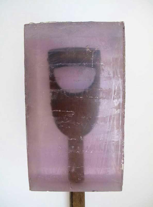 Dug #2, caste polyester resin and found shovel, various sizes, 2011-2014