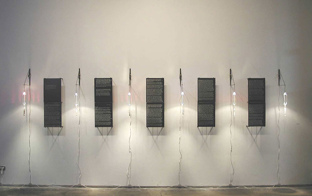 dys(FUNCTION), mixed media, 40 x 120 x 12 in.,  1999-2000, Society for Contemporary Photography, Kansas City, MO, 2002