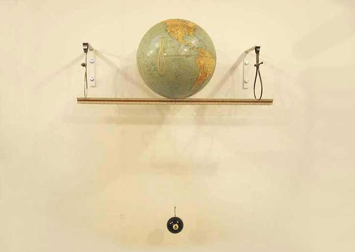 Globe 4, mixed media, 20 x 24 x 10 in.,  2005
