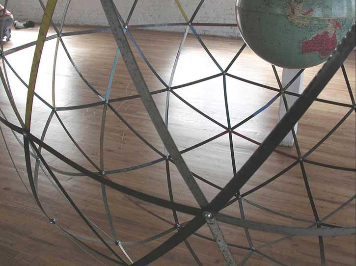 Globe 1, detail, mixed media, various sizes, 2005