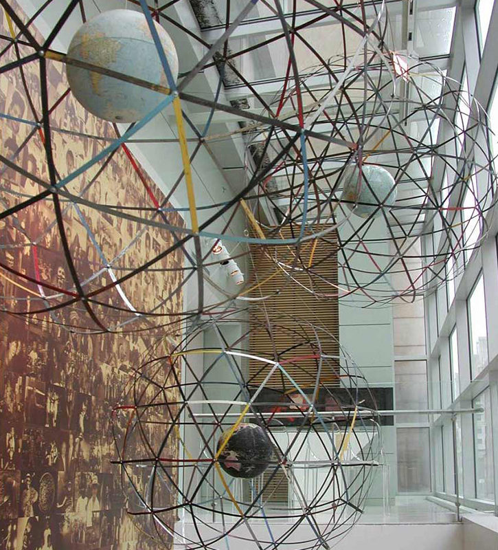 Installation Globes, detail