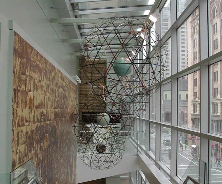 Installation Globes (4 Globes), Museum of the African Diaspora, San Francisco, CA, 2009