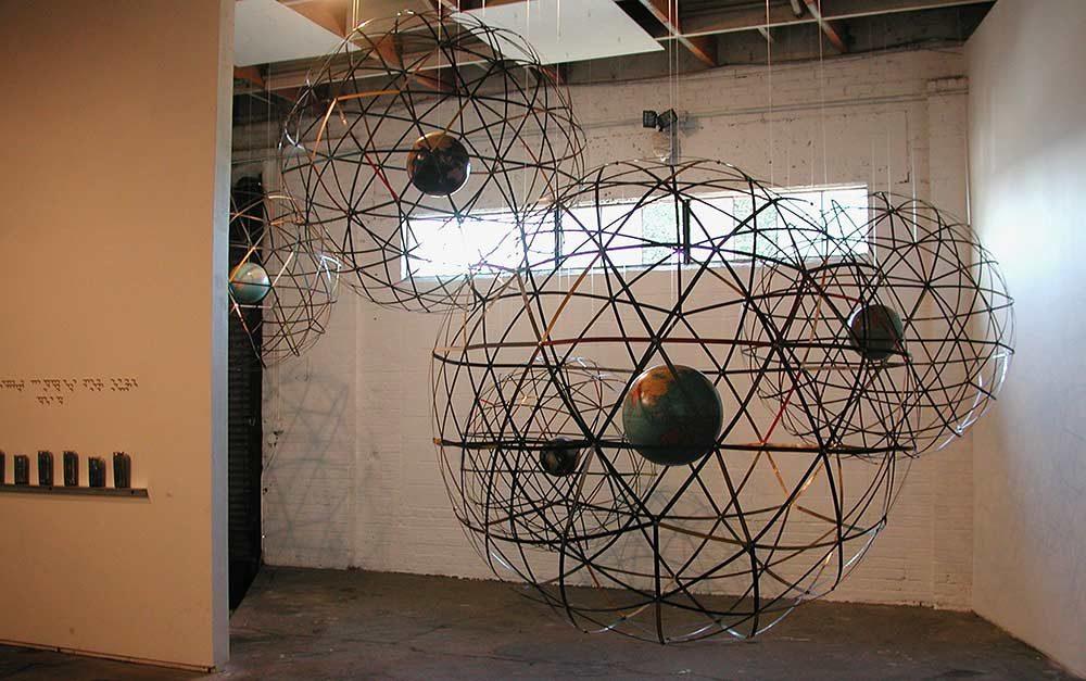 Globes 1a, 1b, 1c, 1d, 1e, various sizes, Lobot Gallery, Oakland, CA, 2005